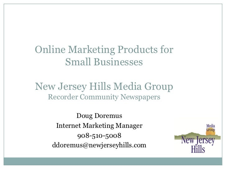 Online Marketing Products for      Small BusinessesNew Jersey Hills Media Group  Recorder Community Newspapers          Do...