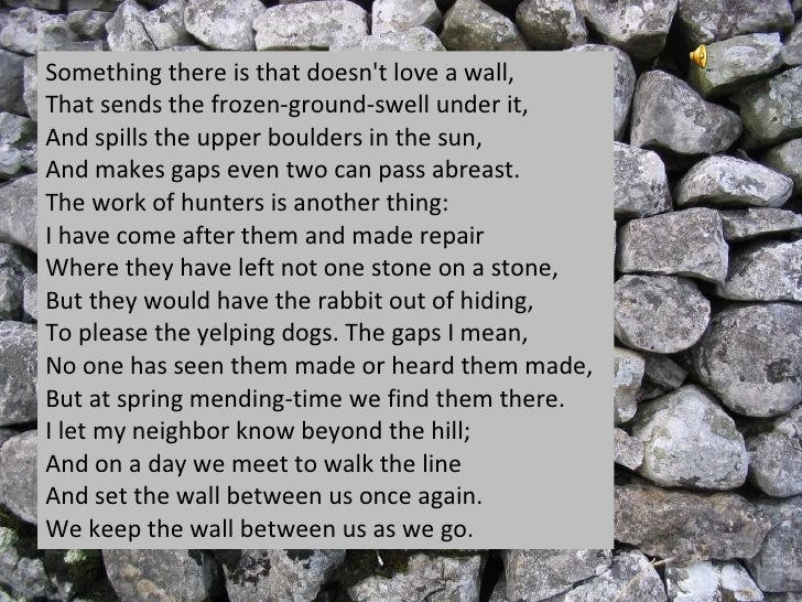 an analysis of individualism in mending wall by robert frost Summary and analysis of robert frost's mending wall, along with a discussion of major themes in the poem.