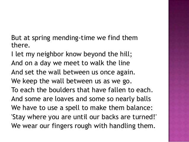 theme of mending wall robert frost