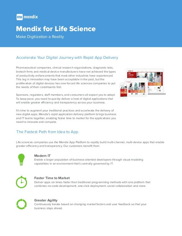 Mendix for Life Science: Make Digitization a Reality