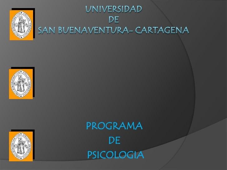 PROGRAMA    DEPSICOLOGIA