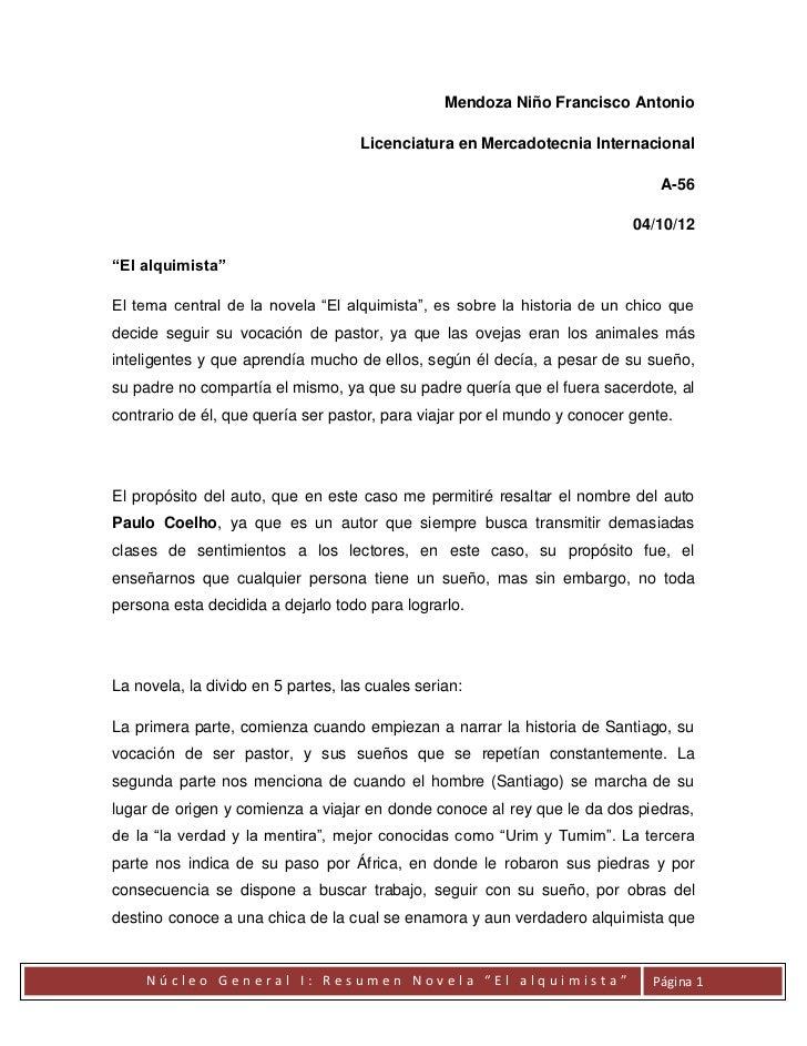 Resumen de la novela el alquimista - El alquimista de los acuarios ...