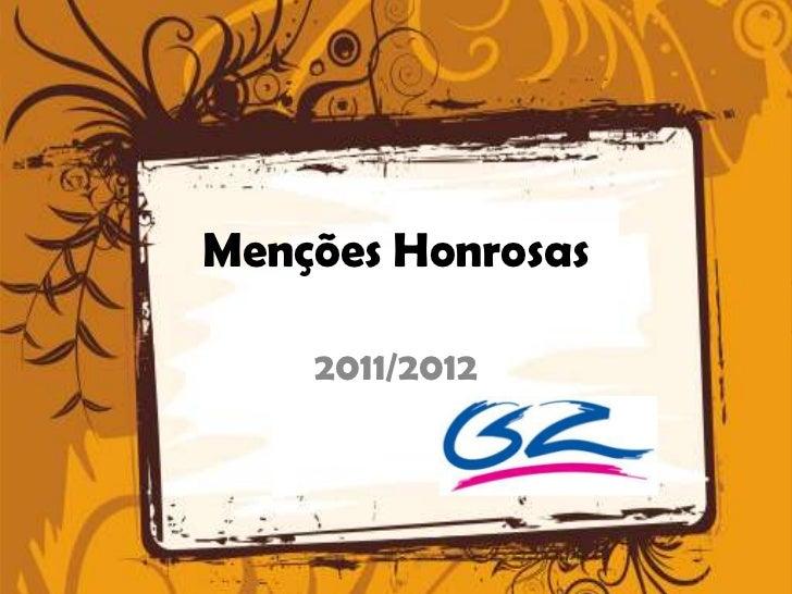 Menções Honrosas    2011/2012