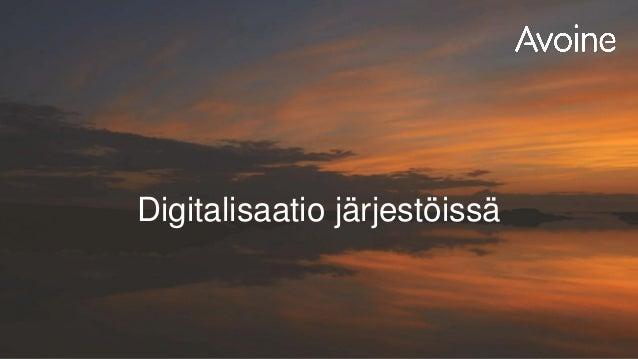 Digitalisaatio järjestöissä