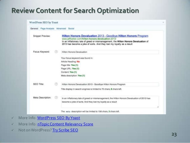 Modern SEO is All About Content, Social Media a slideshare - 웹
