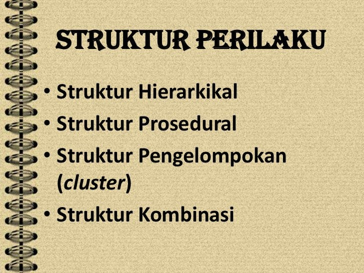 Struktur Perilaku• Struktur Hierarkikal• Struktur Prosedural• Struktur Pengelompokan  (cluster)• Struktur Kombinasi