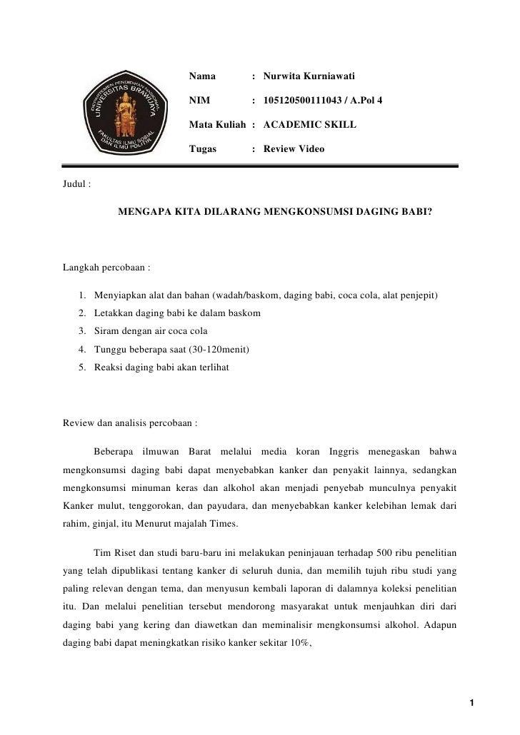 Nama           : Nurwita Kurniawati                               NIM            : 105120500111043 / A.Pol 4              ...