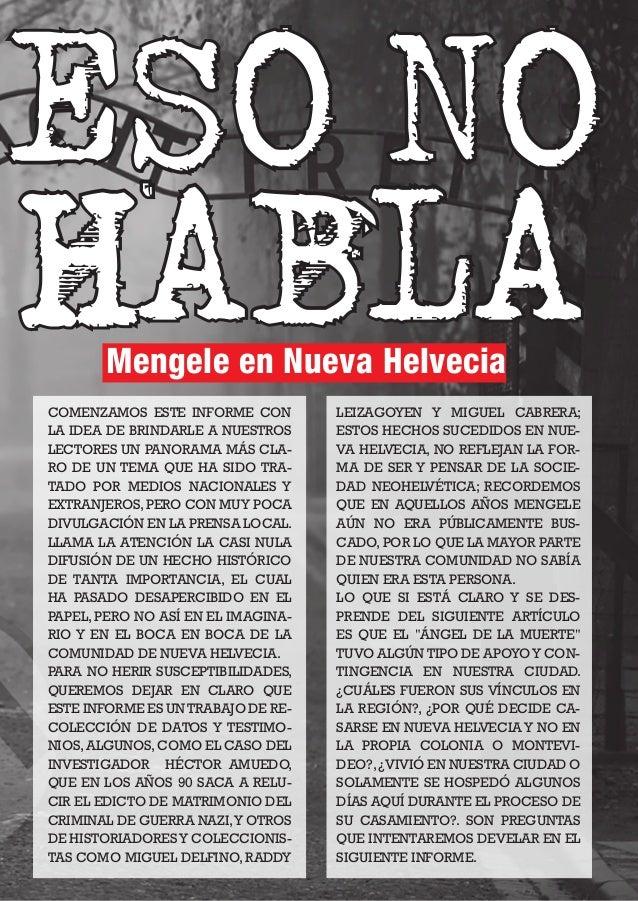 NH MAGAZINE 19 COMENZAMOS ESTE INFORME CON LA IDEA DE BRINDARLE A NUESTROS LECTORES UN PANORAMA MÁS CLA- RO DE UN TEMA QUE...
