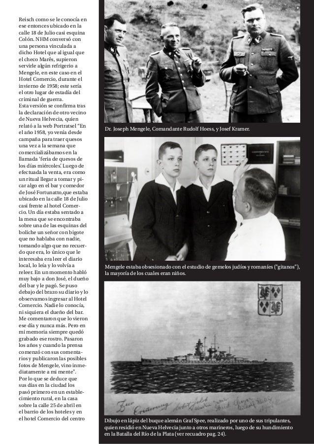 """NH MAGAZINE 23 Mengele estaba obsesionado con el estudio de gemelos judíos y romaníes (""""gitanos""""), la mayoría de los cuale..."""