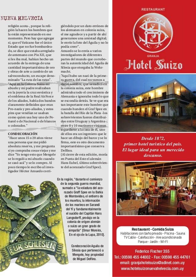 NH MAGAZINE 25 Desde 1872, primer hotel turístico del país. El lugar ideal para un merecido descanso. Restaurant - Comida ...