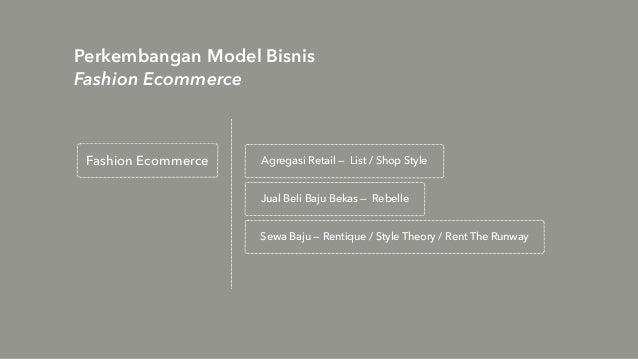 Perkembangan Model Bisnis Fashion Ecommerce Fashion Ecommerce Agregasi Retail — List / Shop Style Sewa Baju — Rentique / S...