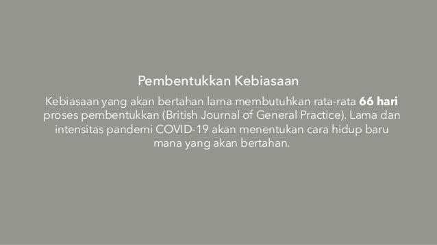 Pembentukkan Kebiasaan Kebiasaan yang akan bertahan lama membutuhkan rata-rata 66 hari proses pembentukkan (British Journa...
