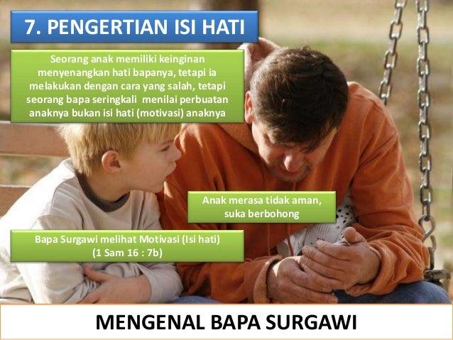 MENGENAL BAPA SURGAWI 7. PENGERTIAN ISI HATI Seorang anak memiliki keinginan menyenangkan hati bapanya, tetapi ia melakuka...