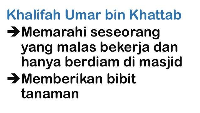 Khalifah Umar bin Khattab Memarahi seseorang yang malas bekerja dan hanya berdiam di masjid Memberikan bibit tanaman