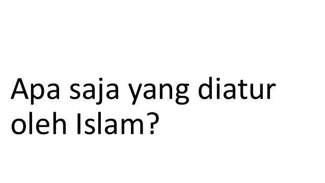 Apa saja yang diatur oleh Islam?