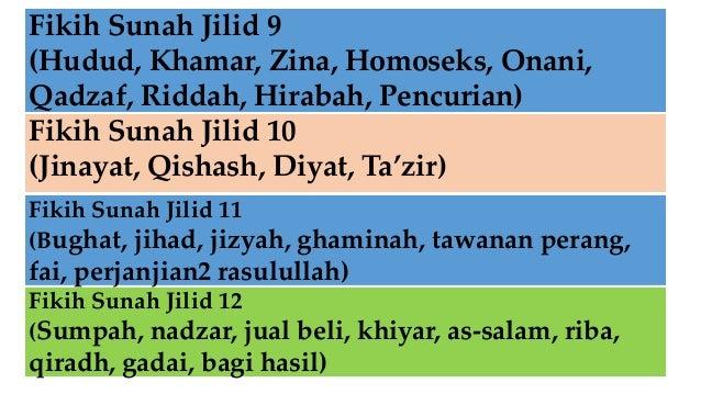 Fikih Sunah Jilid 9 (Hudud, Khamar, Zina, Homoseks, Onani, Qadzaf, Riddah, Hirabah, Pencurian) Fikih Sunah Jilid 10 (Jinay...
