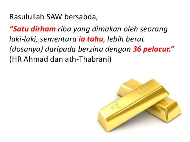 """Rasulullah SAW bersabda, """"Di dalam riba ada 99 pintu dosa. Yang paling ringan adalah seperti seorang anak laki-laki yang m..."""