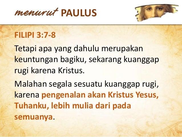 Kualitas doa kita sangat ditentukan oleh pengenalan dan pengalaman kita akan karakter Tuhan ... Doa kita merupakan tanggap...