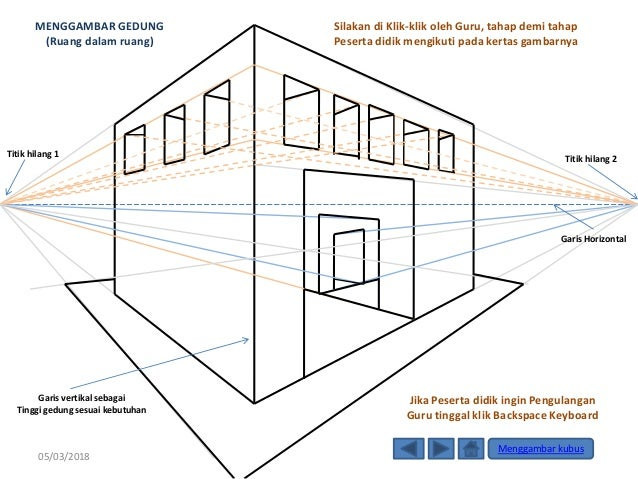 Menggambar 9 Kubus 3 Dimensi Teknik Perspektif 1