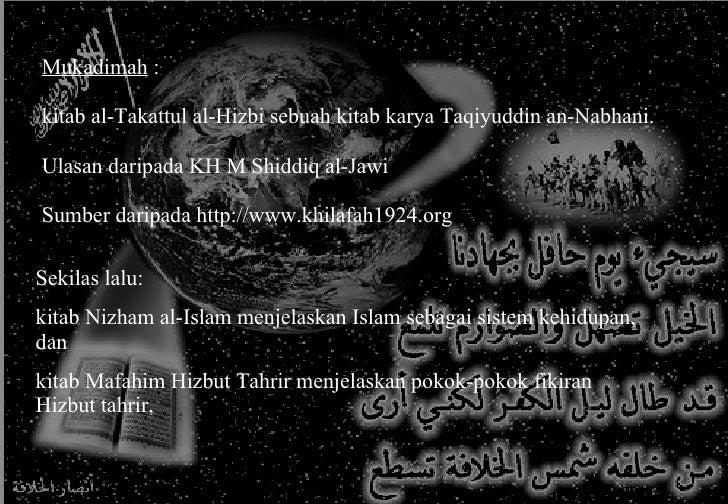 Mengkaji Kitab Al Takattul Al Hizbiy Slide 2