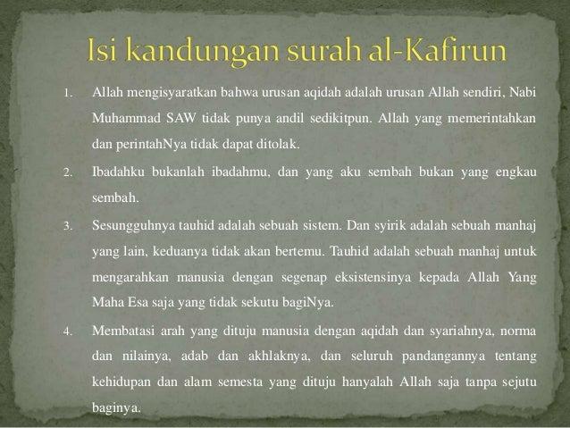 Mengkaji Surah Al Kafirun Dan Al Bayyinah 1