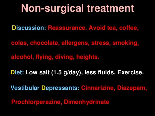 Non-surgical treatment Discussion: Reassurance. Avoid tea, coffee, colas, chocolate, allergens, stress, smoking, alcohol, ...