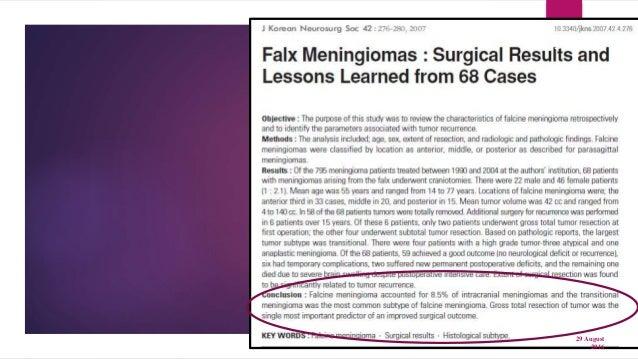 Parasaggital meningioma and its treatment