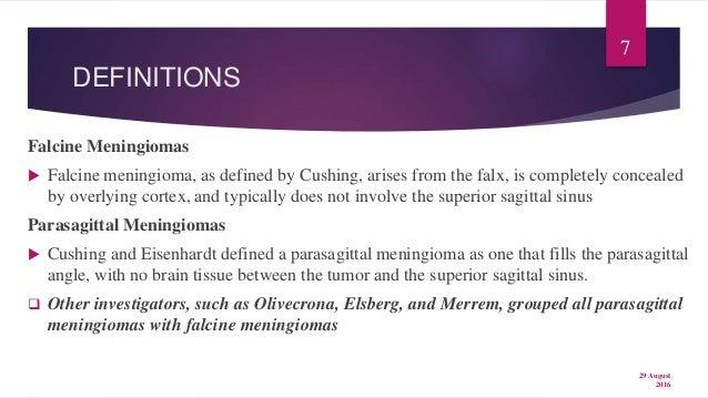 parasagittal meningioma prognosis