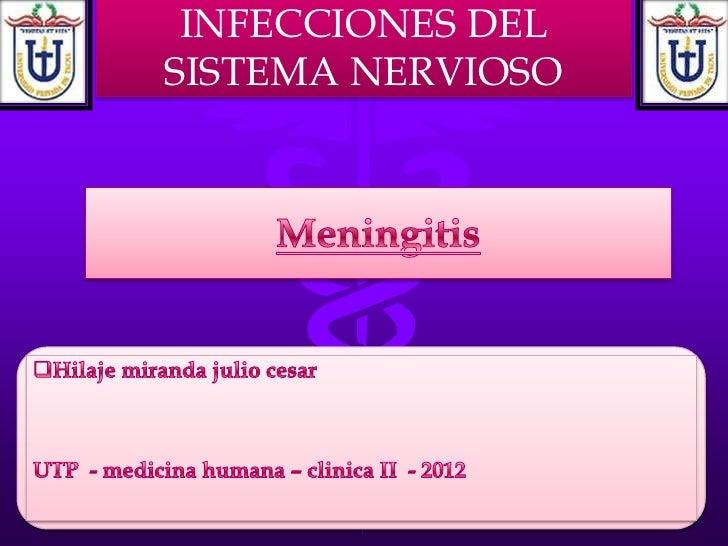 INFECCIONES DELSISTEMA NERVIOSO
