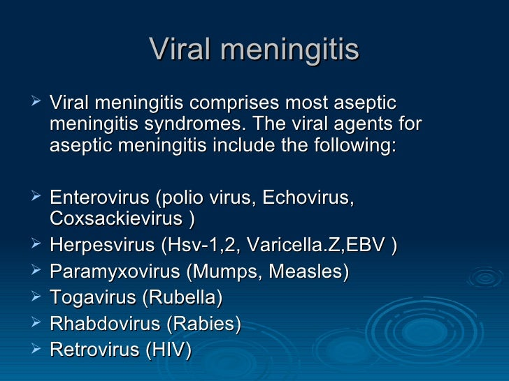 symptoms of viral meningitis � craftbrewswaginfo