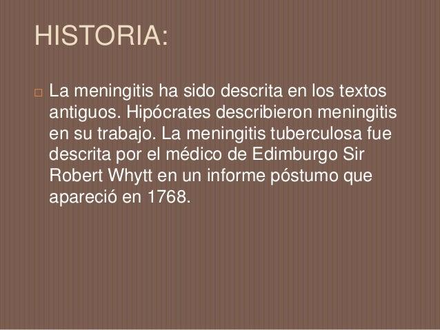  Brote de meningitis en primer lugar se registró en Ginebra en 1805. Gaspard Vieusseux (1746-1814) y Andre Matthey (1778-...