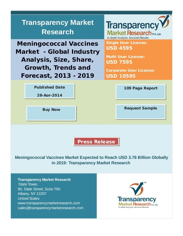 Transparency Market Research Meningococcal Vaccines Market - Global Industry Analysis, Size, Share, Growth, Trends and For...