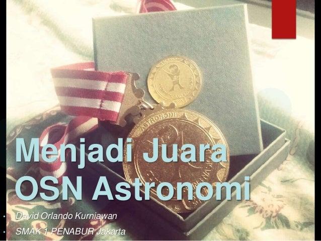 Menjadi juara osn astronomi