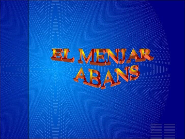 EL MENJAR ABANS