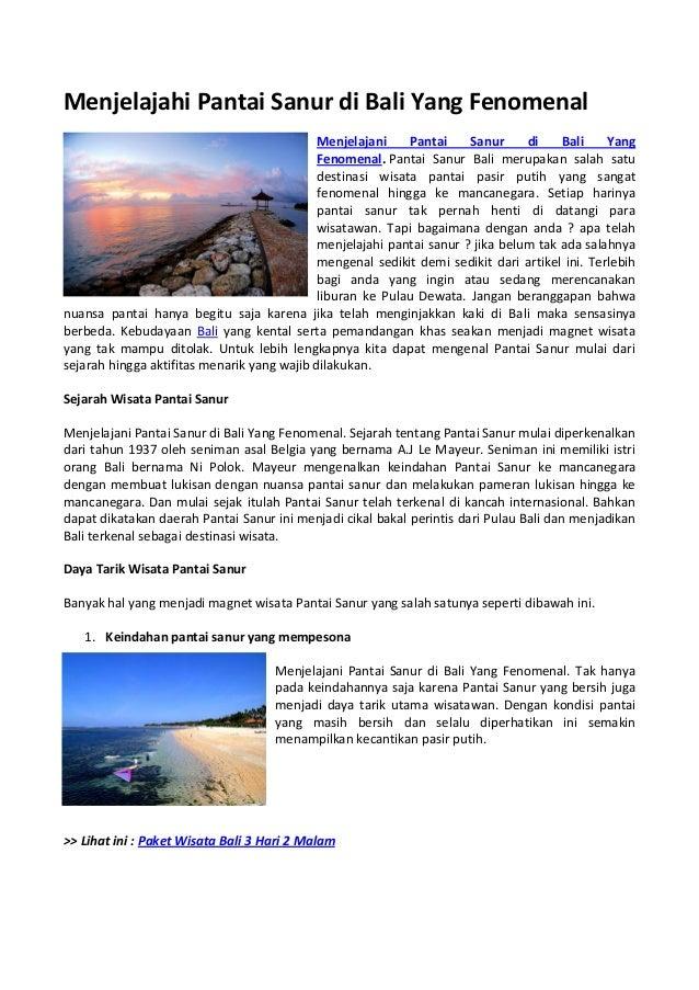 Menjelajahi Pantai Sanur Di Bali Yang Fenomenal