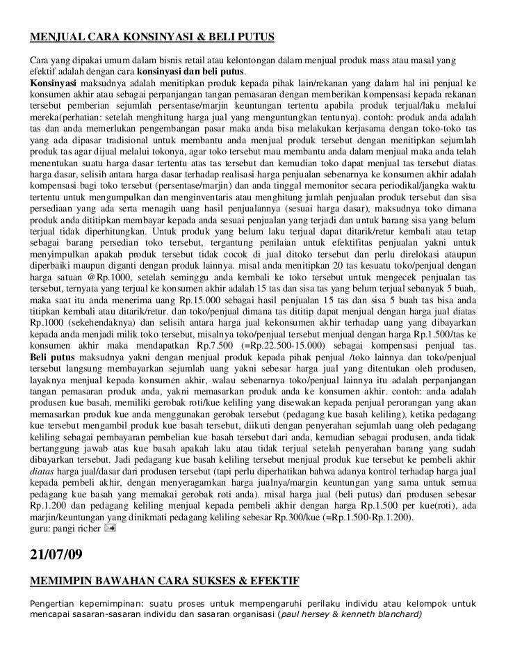 """HYPERLINK """"http://kayadaribisnisreal.blogspot.com/2009/08/menjual-cara-konsinyasi-beli-putus.html"""" MENJUAL CARA KONSINYAS..."""