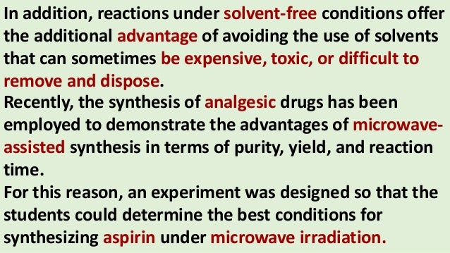 Green Chemistry Principles And Application On Aspirin