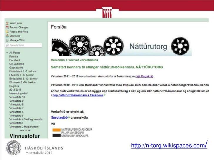 http://n-torg.wikispaces.com/Menntakvika 2012