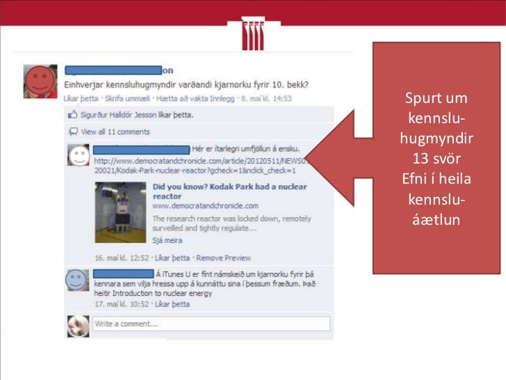 Beðið um praktískar upplýsingarMenntakvika 2012