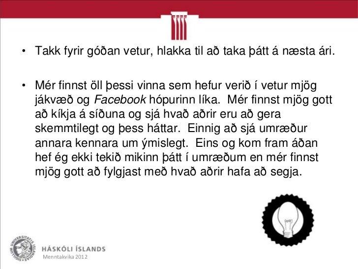 Takk fyrir migMenntakvika 2012