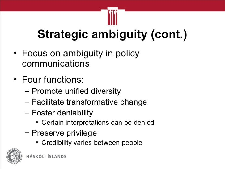 Strategic ambiguity in Finnish policy on ICT in education