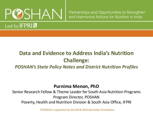 Data and Evidence to Address India's Nutrition Challenge: POSHAN's State Policy Notes and District Nutrition Profiles Purn...