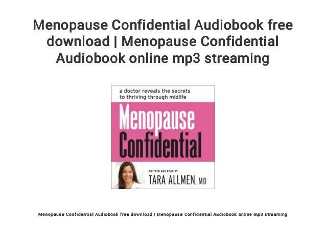 Menopause Confidential Audiobook Free Download Menopause Confidenti