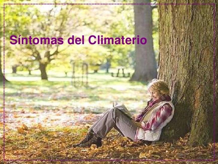Síntomas del Climaterio