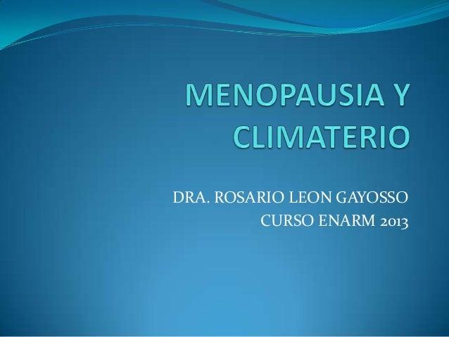 DRA. ROSARIO LEON GAYOSSOCURSO ENARM 2013