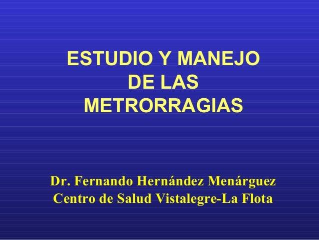 Metrorragias - Centro de salud vistalegre la flota ...