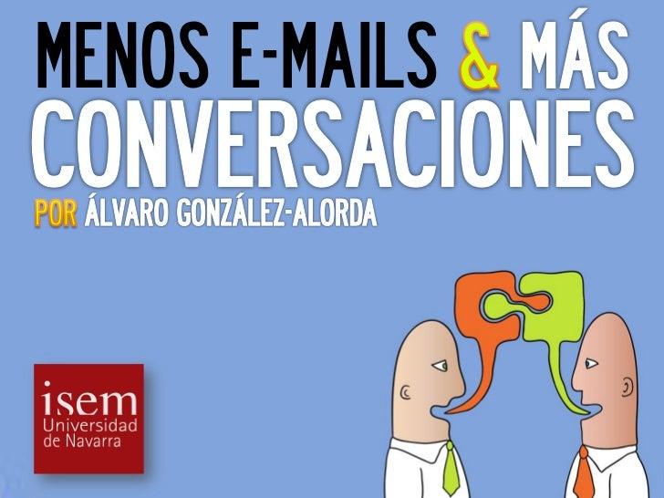 MENOS E-MAILS
