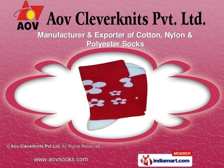 Manufacturer & Exporter of Cotton, Nylon &             Polyester Socks