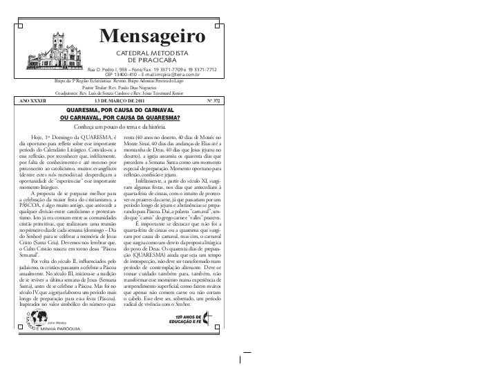 Mensageiro                                                 CATEDRAL METODISTA                                             ...