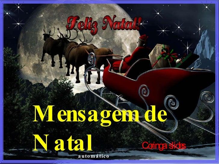 Mensagem de Natal   Coringa  slides automático
